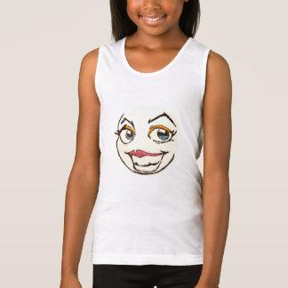 happy girls face tank top