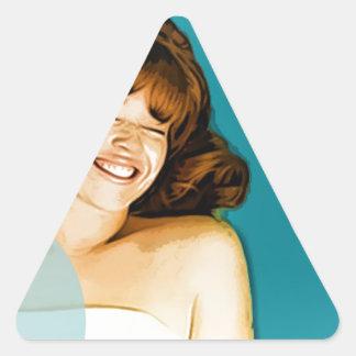 happy Girls Triangle Sticker
