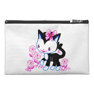 Happy Girly Kitten Travel Accessories Bag