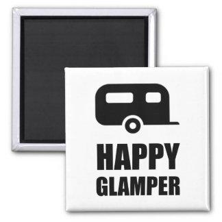 Happy Glamper Camper Magnet