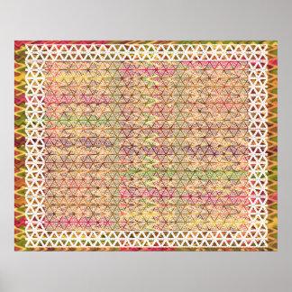 Happy Glory Border Pattern -  Enjoy Share the Joy Poster