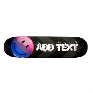 Happy Glossy Bisexuality Pride Flag Custom Skate Board