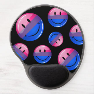 Happy Glossy Bisexuality Pride Flag Gel Mouse Pad