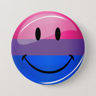 Happy Glossy Bisexuality Pride Flag Pinback Button