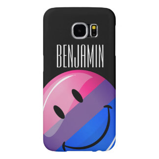 Happy Glossy Bisexuality Pride Flag Samsung Galaxy S6 Cases