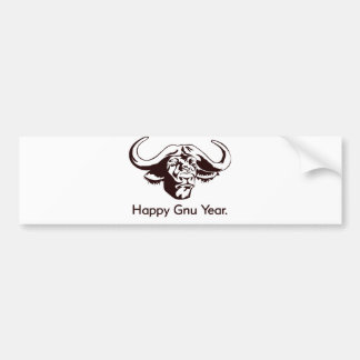 Happy Gnu Year Car Bumper Sticker