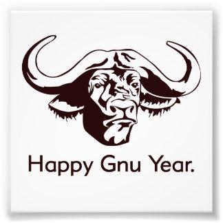 Happy Gnu Year Art Photo