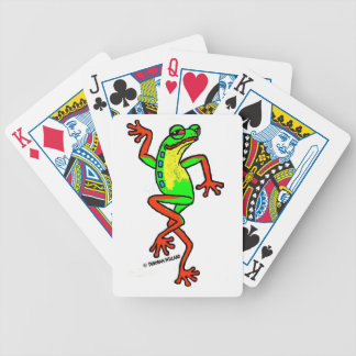 Happy-Go-Lucky Dancing Tree Frog Bicycle Playing Cards