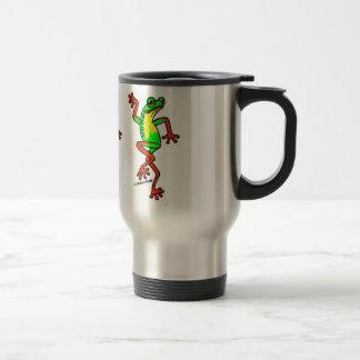 Happy-Go-Lucky Dancing Tree Frog Travel Mug
