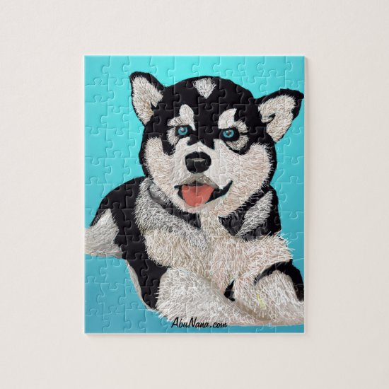 Happy Go Lucky Puppy Jigsaw Puzzle