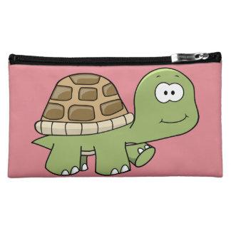 Happy Go Lucky Turtle cosmetic wristlet