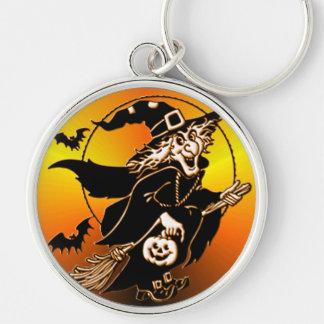 Happy Go Lucky Witch Keychain