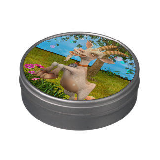 Happy Goat Candy Tin