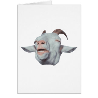 Happy Goat is Faded Card