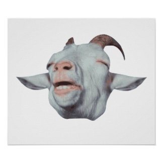 Happy Goat is Faded Poster