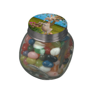 Happy Goat Jelly Belly Candy Jar
