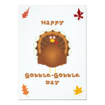 Happy Gobble-Gobble day 5x7 Paper Invitation Card