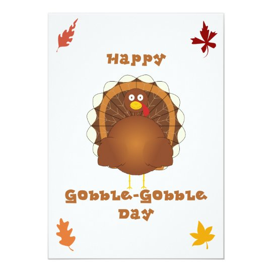 Happy Gobble-Gobble day Card