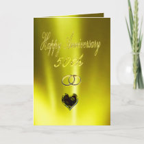 Happy Golden 50th Anniversary Card