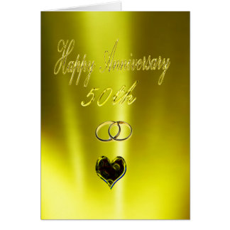 Happy Golden 50th Anniversary Card