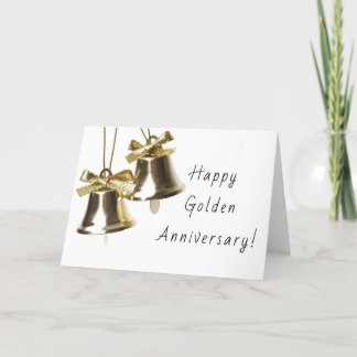 Happy Golden Anniversary Greeting Card, 50th Card