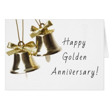 Wedding Themed Happy Golden Anniversary Greeting Card, 50th Card