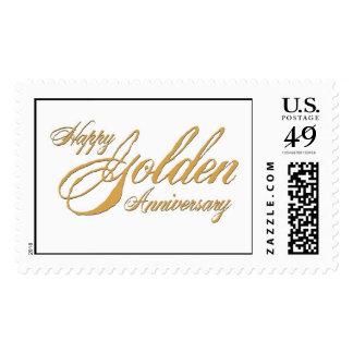 Happy Golden Anniversary Postage Stamp