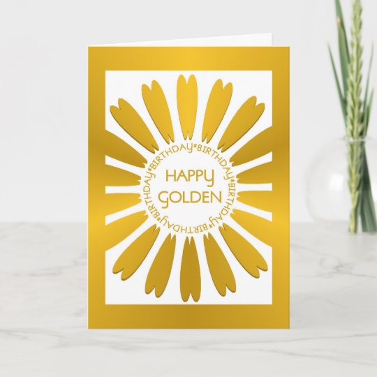 Happy Golden Birthday Card Zazzle