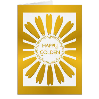 Happy Golden Birthday Card