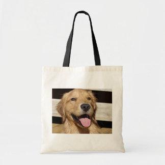 Happy Golden Retriever Budget Tote Bag
