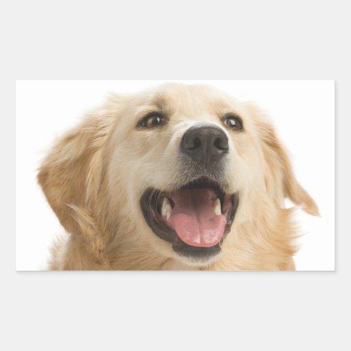 Happy Golden Retriever Puppy Dog Stickers
