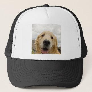Happy Golden Retriever Trucker Hat