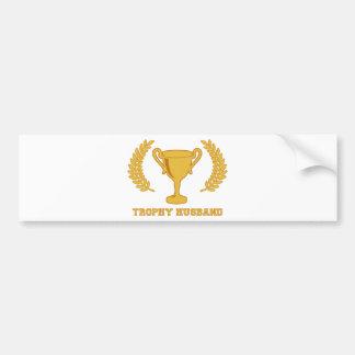 Happy Golden Trophy Husband Bumper Sticker