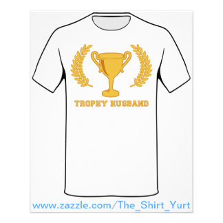 Happy Golden Trophy Husband Flyer