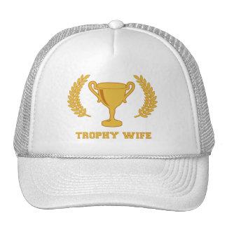 Happy Golden Trophy Wife Trucker Hat