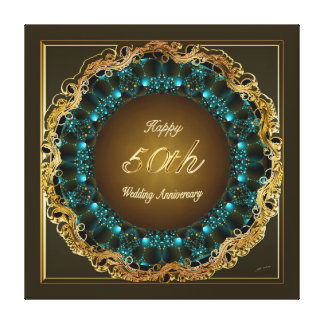 Happy Golden Wedding Anniversary Canvas Prints
