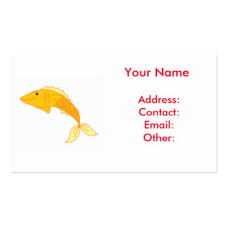 Happy Goldfish Business Card Template