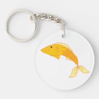 Happy Goldfish Keychain
