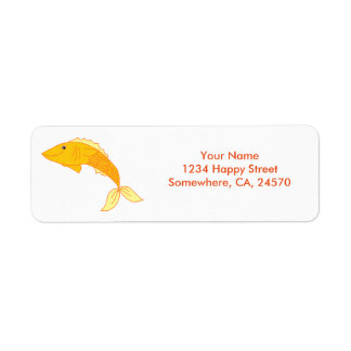 Happy Goldfish Label