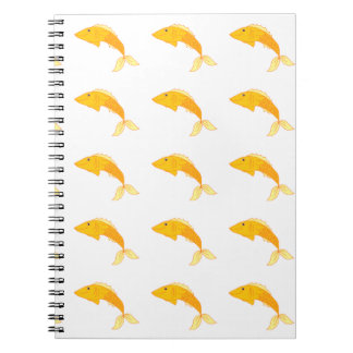 Happy Goldfish Spiral Note Books