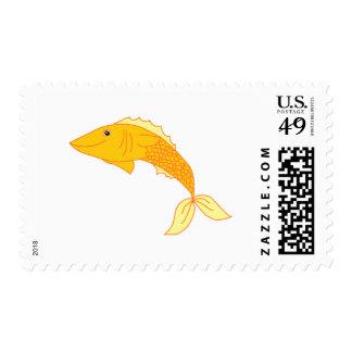 Happy Goldfish Stamp