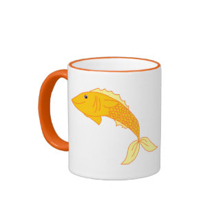 Happy Goldfish Ringer Mug