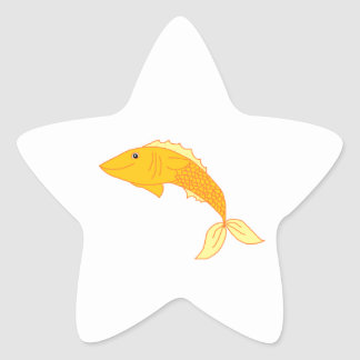 Happy Goldfish Star Stickers