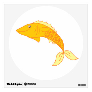 Happy Goldfish Wall Decal
