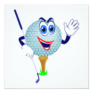 Happy Golf Ball T-shirts and Gifts Card