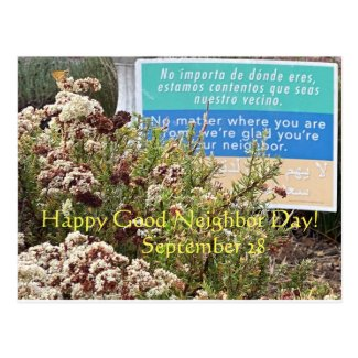 Happy Good Neighbor Day! Postcard