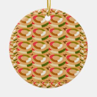 HAPPY GOODLUCK feel  Sunshine Circles Athenic ART Christmas Ornaments