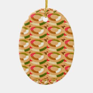 HAPPY GOODLUCK feel  Sunshine Circles Athenic ART Christmas Tree Ornaments