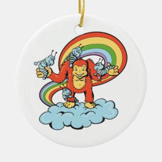 happy gorilla cartoon character vector ornaments