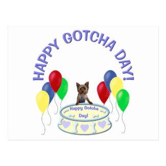 Happy Gotcha Day Doggie Post Cards